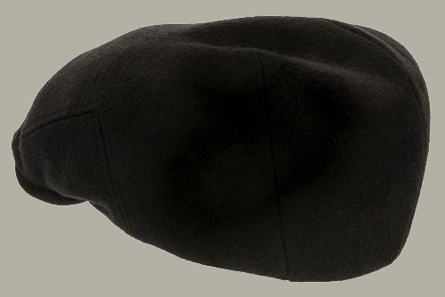 Pet `Edward Melton Black` - zwart wollen flat-cap - maat 58/60/62 - CTH Ericson
