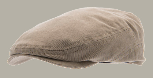 Pet 'Lucas' Slub Kakhi - flat cap - kaki lichtbruin - maat 58/60 - CTH Ericson