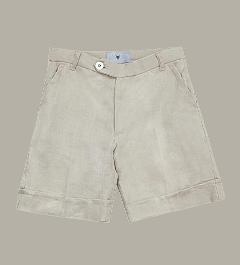 Little Linens 'Sand' linnen bermuda shorts - maat 98/104 - LL41