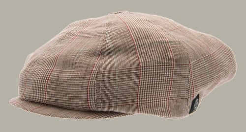 Pet `Lorentz` Estate Brown - newsboy cap bruin geruit - maat 46/48/50/52 - CTH Mini