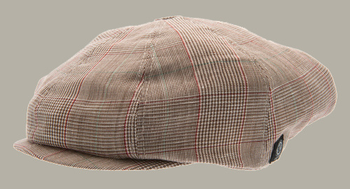 Pet `Lorentz` Estate Brown - newsboy cap bruin geruit - maat 46/48/50/52/54/56 - CTH Mini
