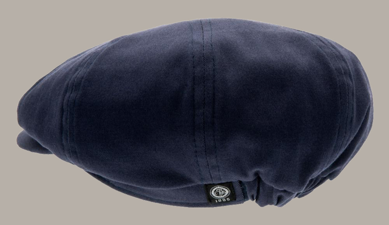 Pet `Gordon` Mono Blue - newsboy cap - blauw - maat 52 - CTH Mini