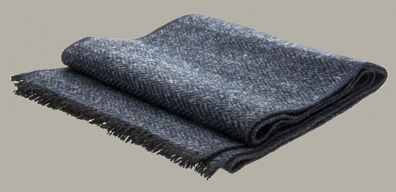 Shawl 'Edgar' Tweed Blue - one size - wollen shawl - CTH Eriscon