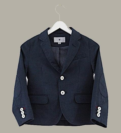 Little Linens 'Midnight Navy' linnen donkerblauwe blazer - maat 98/104 - LL47