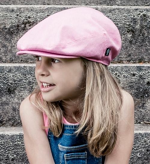 Pet `Elton` Morgado/Liberty Hot Pink - flat-cap - roze - maat 50 - CTH Mini