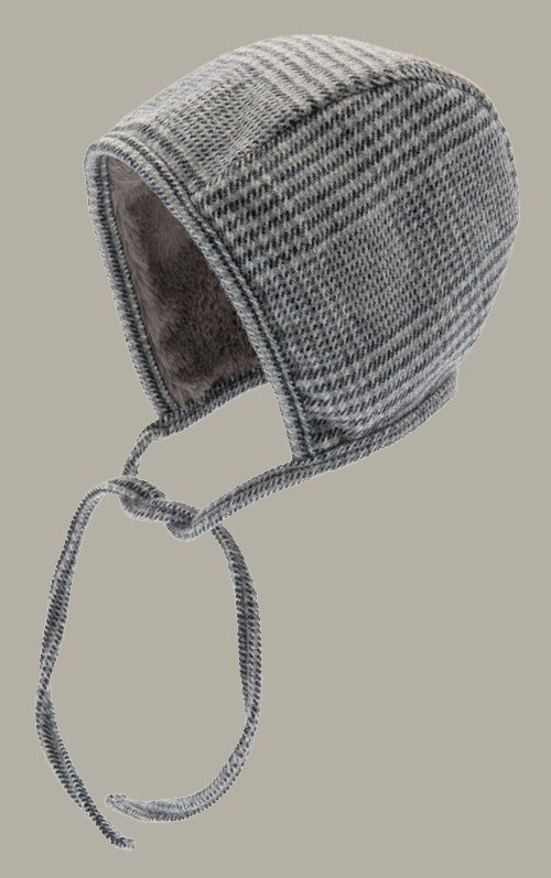 Bonnet 'Esther Glencheck Blue-Grey' - maat 42/44/48/50 - CTH Mini