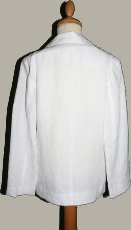 Monny colbert wit linnen - maat 128 - MO02
