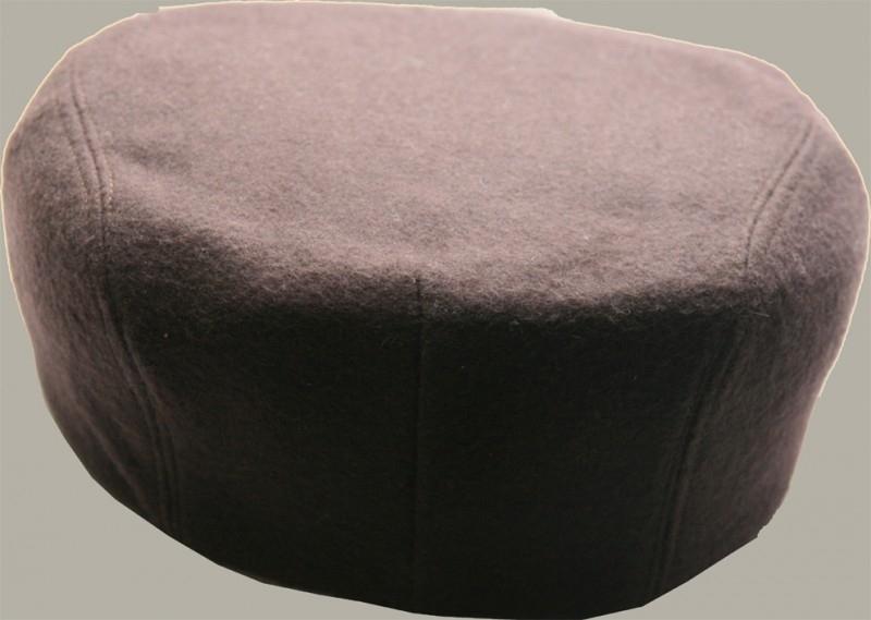 Pet `Koos` - flat-cap - uni bruin wollen - maat 54 - FI138-139