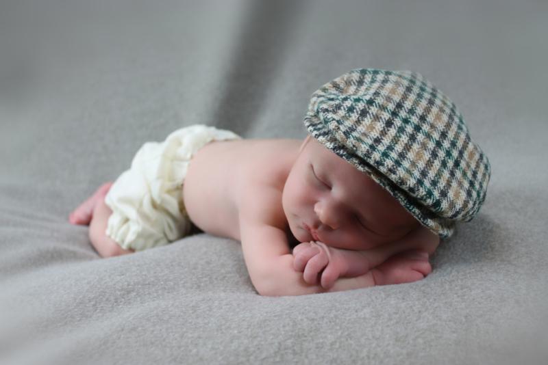 Pet  `Jonas` groen/bruin/crème geruit - baby flat-cap - maat 40-42 - ClassyBoy