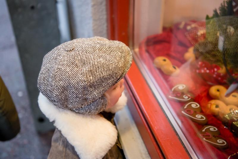 Pet `Theodor Diagonal Stripe Brown` - newsboy cap met oorflappen - bruin - maat 46/48/50/52/54/56 - CTH Mini