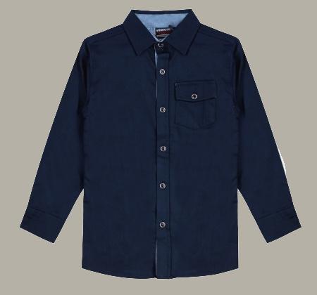 Vinrose overhemd 'Jaxon' navy donkerblauw - maat 146/152 - VR96
