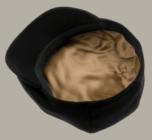 Pet `Wilson Melton Black` - zwart wollen newsboy cap - maat 61 - CTH Ericson
