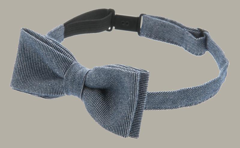 Bow-Tie  'Knut' Morgado Blue - one size - vlinderstrik groot - CTH Mini