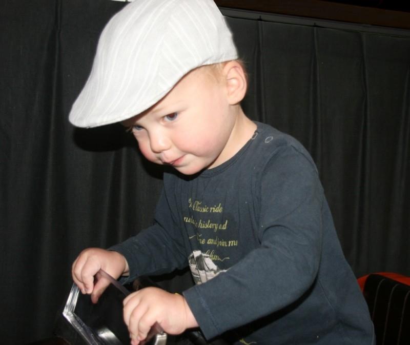 Pet `Phill` - driver-cap - grijs/beige gestreept - maat 52/54/56 - FI