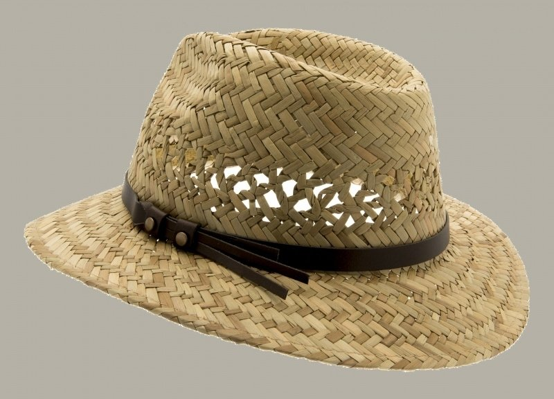 Fedora hoed 'Bill Jr.' Natural Straw - maat 49/51/53/55 - CTH Mini