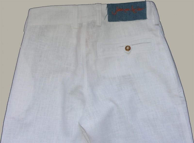 Jan van Trier linnen broek - wit - maat 128 - JT03