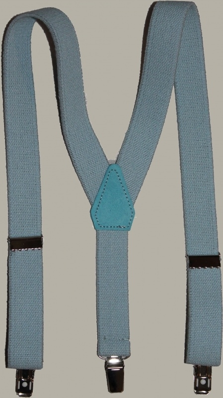 Bretels - lichtblauw - maat baby/kleuter