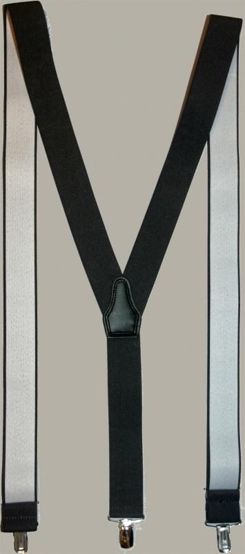 Bretels - zwart - smalle clips - maat 134 t/m volwassen maat