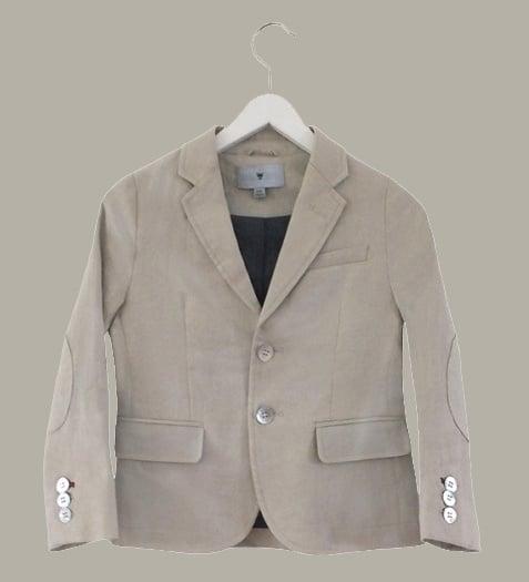 Little Linens 'Sand' linnen blazer - maat 146/152 - LL43