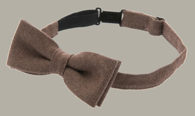 Bow-Tie 'Knut' Morgado Brown - one size - vlinderstrik groot - CTH Mini