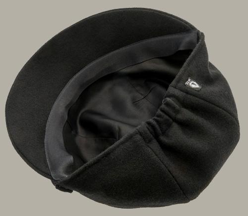 Muts 'Helena Melton Black' - zwart wollen hoedje voor dames - maat 58 - CTH Ericson
