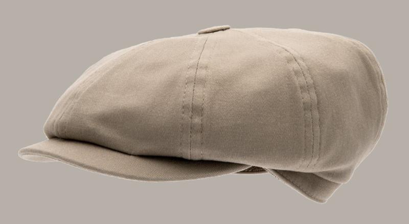 Pet `Gordon` Mono Kakhi - newsboy cap - beige/zand - maat 46/48/50/54/56 - CTH Mini