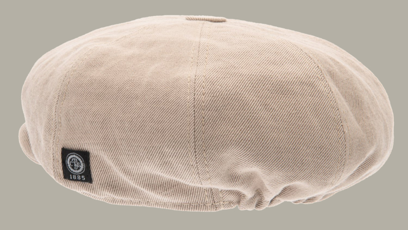 Pet `Theodor' Slub Kakhi - newsboy cap - beige/zand - maat 46/48/50 /52/54/56 - CTH Mini