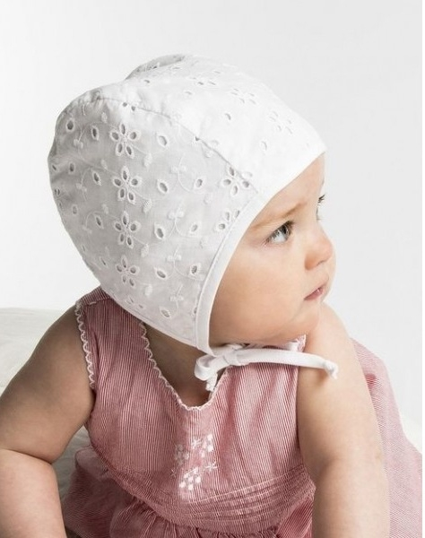 Bonnet 'Hilda Jr. Eyelet White' - maat 42/46/48 CTH Mini