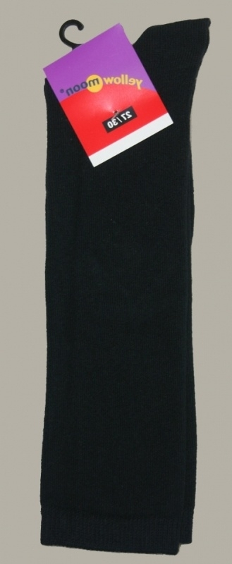 Yellow Moon kniekous zwart - maat 19 t/m 42 - YM01