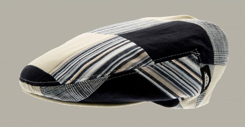Pet `Philip Patchwork Blue` - flat-cap - maat 50 - CTH Mini