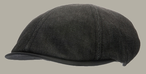 Pet `Jasper` Denim Black - duckbill cap zwart - maat 50 - CTH Mini
