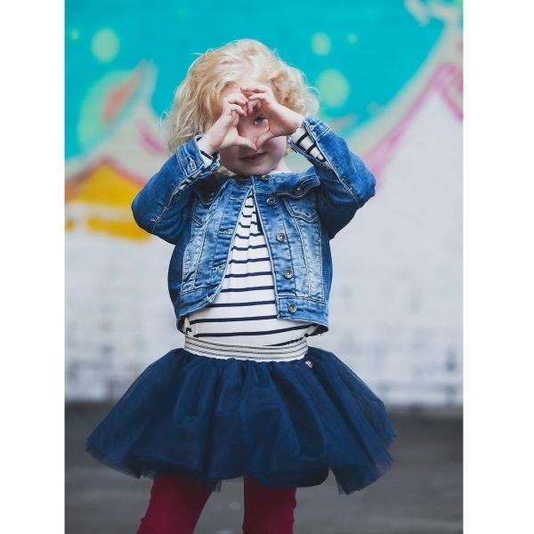 Vinrose tutu 'Sill' Blue - donkerblauwe tule petticoat rok - maat 146/152 - VR87