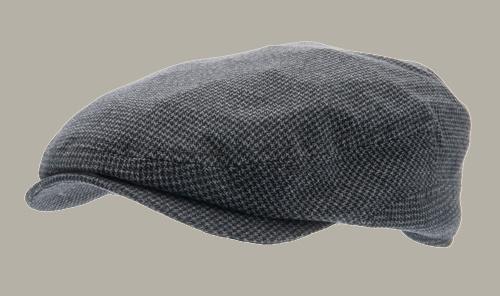 Pet 'Lucas' Petite Blue - flat cap - blauw pied-de-poule - maat 61 - CTH Ericson