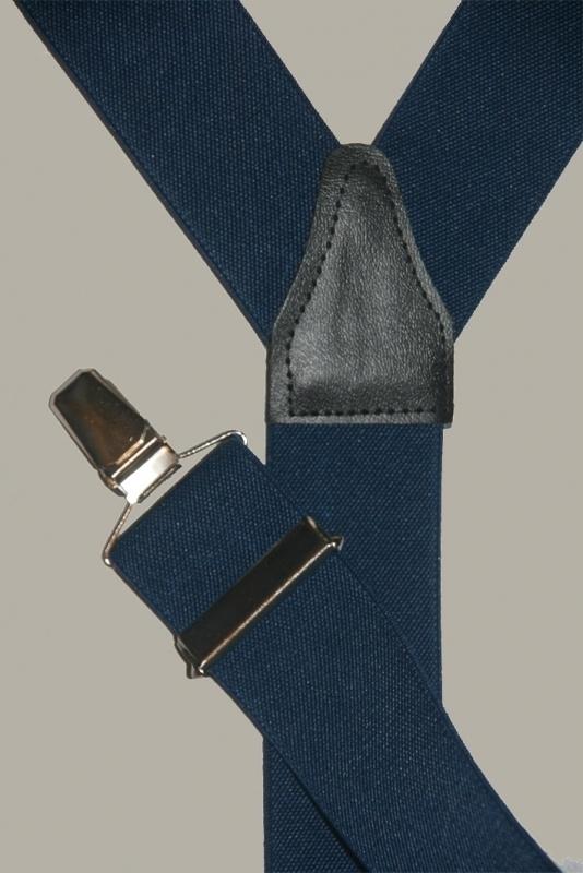 Bretels - donkerblauw - smalle clips - maat 134 t/m volwassen maat