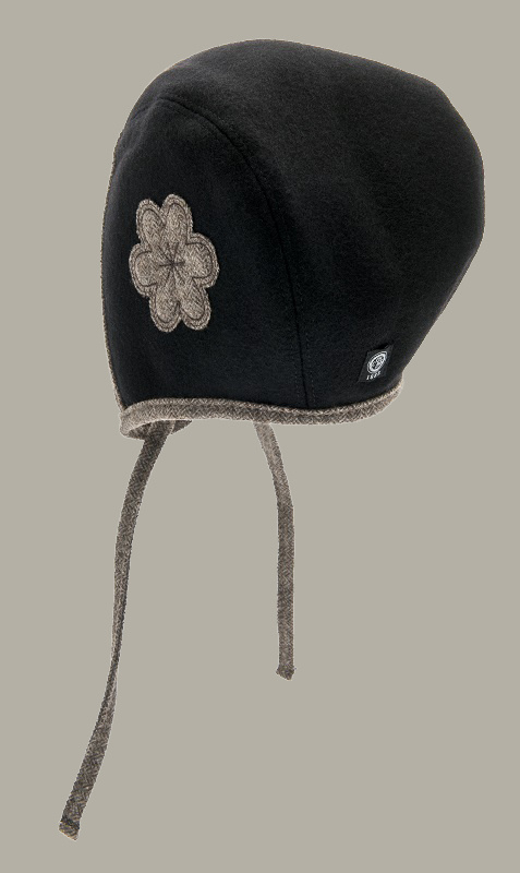 Bonnet 'Esther Flower Black/Brown' - maat 50 - CTH Mini