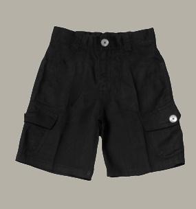 Little Linens zwarte linnen bermuda - maat 146 - LL21