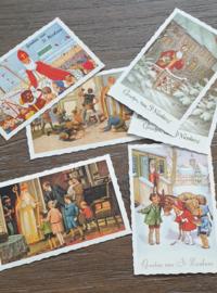 Nostalgische  Sinterklaas 5 december kaarten