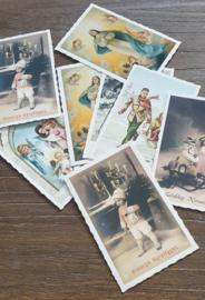 Nostalgische kerst/winterkaarten