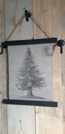 Kerstboom op canvas