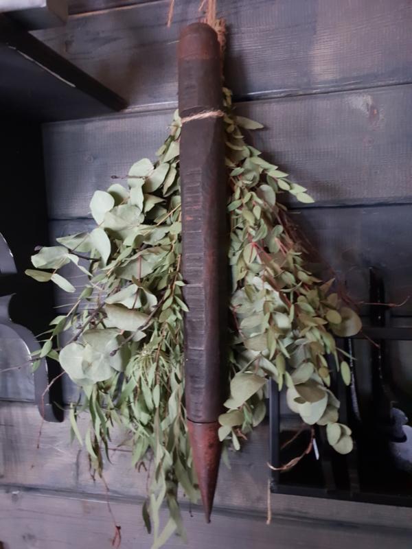 Oude houten tent pin (spies)
