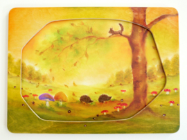 PO0001 Autumn forest incl frame