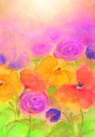 B1014 Colourful flowers