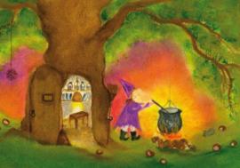 S1025 Witch with cauldron