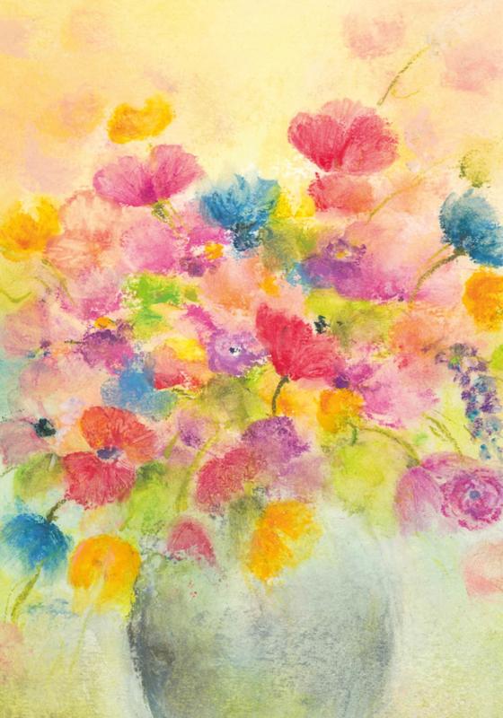 B1017 Wilde bloemen in vaas