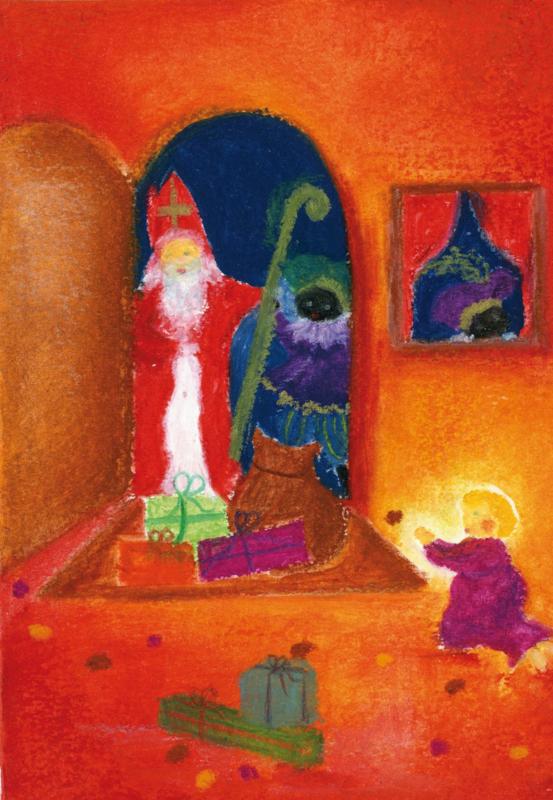 SP1000 Sint en Piet in de deuropening
