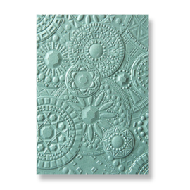 Sizzix - 3-D embossing folder - mosaic gems - 663206