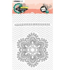 Studio Light - stempel  - Stamp, Sweet Flowers nr.438 - STAMPSFL438