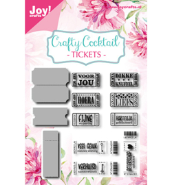 Joy!Crafts-Stencil-stempelset -Tickets-6004/0040