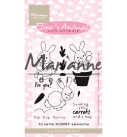Marianne Design-Clear Stamp Eline's cute animals – bunnies-EC0178