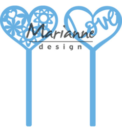LR0573 Marianne Design Creatable Heart pins (set of 2)